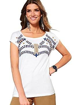 VENCA Camiseta Escote Redondeado y minimanga by Vencastyle