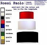 Lampenschirm Zylinder aus Stoff und PVC für Lampen und Kronleuchter - eigene Produktion - Hergestellt in Italien (Durchmesser 55)