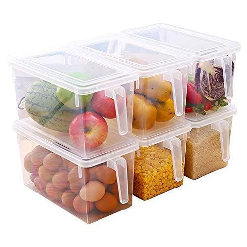 Gracorgzjs Portable Food Storage, Kühlschrank Kühlschrank Sealed Food Obst Box Organizer Container Grün -