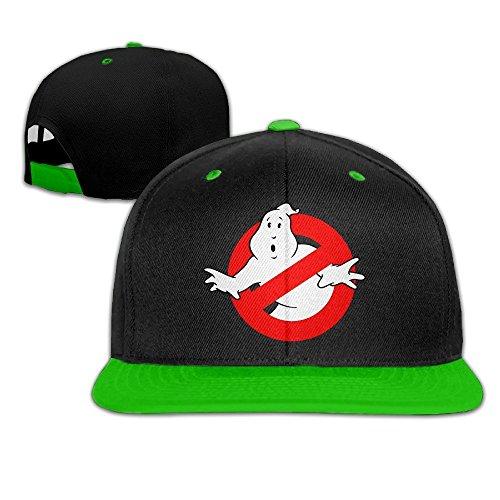 2a4b1f2e36f Hittings Ghost Busters Logo Hip Hop Bucket Hat Plain Snapback Cap KellyGreen