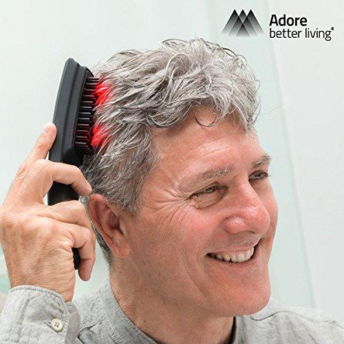 Adore Better Living Hair-Force-One - Cepillo masajeador anticaida con laser
