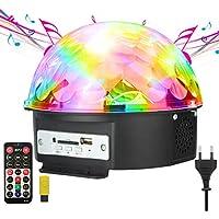 Luz del Disco, GUSODOR Luces del Partido Bola Cristal Magica Lampara Etapa Luz Discoteca Lámpara LED DJ Luz Activado por Club Boda Cumpleaños KTV Bar Fiestas
