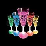 Copas de champán luminosas