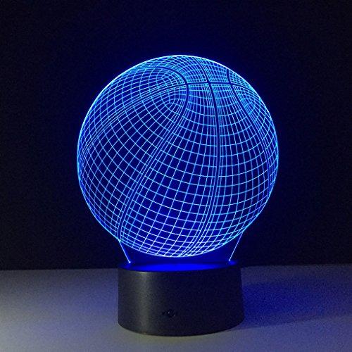 e 3D Licht LED Touch Lampe kreative Desktop Lampe Acryl bunte Nachtlicht (Licht Basketball)
