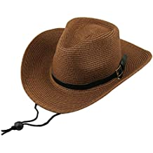 Bambini Ragazzi Regalo Cowboy Western Paglia Cappello da Sole Cap Costume  Dono faa4f0b92b44