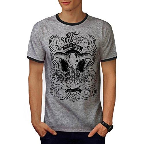 Chupacabra Fantasie Schädel Opfern Herren XXL Ringer T-shirt | Wellcoda (Fantasy-ringer)