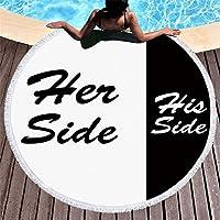Pterygoid Kollektion 149,9cm Ihre Seite Seine Hide Dick Rund Super Mikrofaser Strandtuch Beach Decke–Weich, Quick Dry