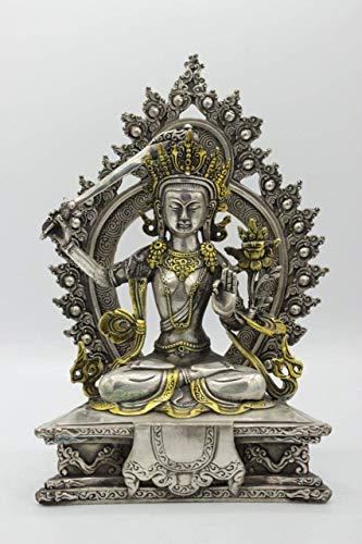 Manjushri-statue (Asien Lifestyle Buddha Figur Manjushri (26cm) Bronze - Tibet Statue Schwert)