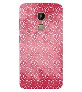 ColourCraft Beautiful Hearts Pattern Design Back Case Cover for LeEco Le 2 Pro