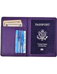 Hopsooken Portefeuilles Passeport, Passeport Titulaire Organisateur de Voyage Imperméable pour Document, Passeport, Carte Crédit, Espèces, Carte D'identité 008 Modèles