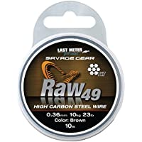 Savage Gear Raw 49 Stahlvorfach 7x7 10m, Vorfach für Hecht, Zander & Barsch, Vorfachschnur für Raubfischvorfächer, Stahl für Stahlvorfächer