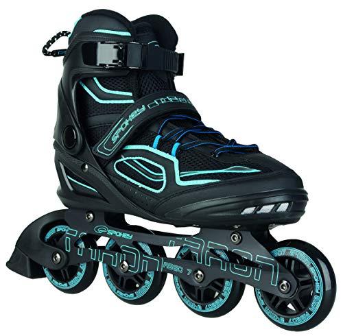 Spokey Kinder und Erwachsene Inline Skates mit verschleißfesten Rädern und widerstandfähigen Bremsklötzen, Taron - Blau, 45