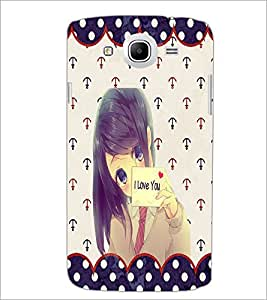 Printdhaba I Love You Girl D-1104 Back Case Cover For Samsung Galaxy Mega 5.8