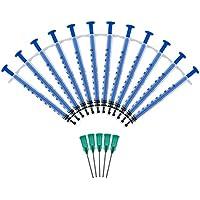 Jeringa de 1ml con agujas de punta roma de 18G 1.2-38 mm para experimentos, uso industrial Aguja dispensadora conjunto de jeringa jeringa de plástico jeringa desechable