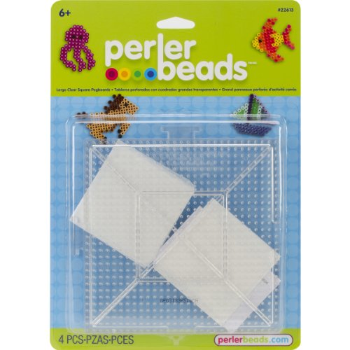 Perler Beads Large Clear Square Pegboards (2 Count)