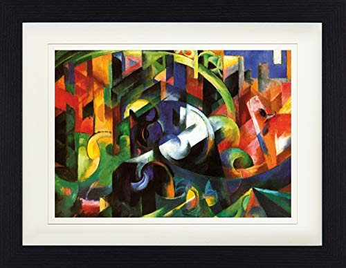1art1 113537 Franz Marc - Bild Mit Rindern I, 1913 Gerahmtes Poster Für Fans Und Sammler 40 x 30 cm