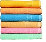 #8: RBK Multicolor Cotton Bath Towels (Pack Of 6)