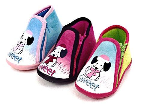 Baby/Kinder Motiv-Hausschuhe Farben:blau, pink,grün Gr. 19-27 sehr gut geeignet für Zuhause oder Kindergarten, biegsame Gummisohle Grün