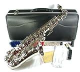 silbernes Alt Saxophon Eb + Koffer + Zubehör N