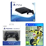 PlayStation 4 500 Gb D Chassis Slim + FIFA 17 + Controller aggiuntivo Dualshock 4 Wireless Jet Black New