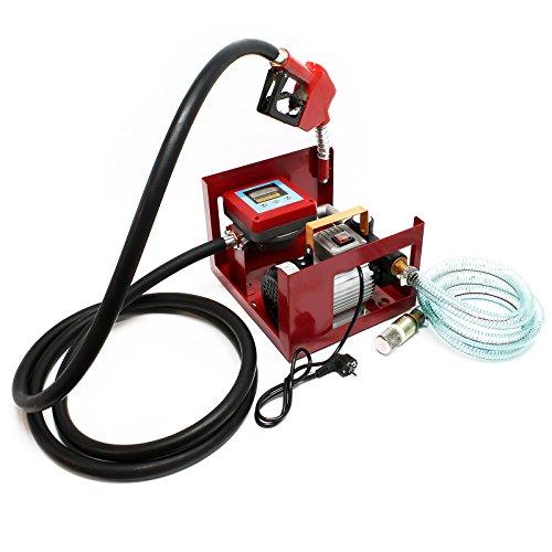 Dieselpumpe Heizölpumpe selbstansaugend 230V 550W 60l/min Digitalzählwerk Zapfpistole Schläuche