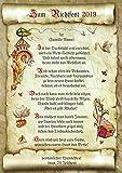 Die Staffelei Richtfest Geschenk zum Richtfest Hauseinweihung Urkunde mit Richtspruch