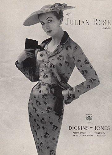 julian-rose-london-dickins-and-jones-fashion-advert-british-vogue-1955-old-antique-vintage-print-art