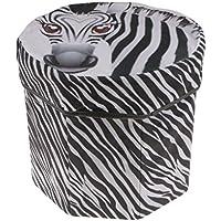 Preisvergleich für MagiDeal Rund Hocker Sitzhocker Aufbewahrungsbox Obst / Tier Form - Zebra