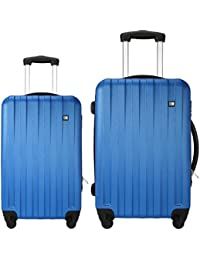 fd102ed195fa Nasher Miles Zurich ABS Hard Luggage Set of 2 Luggage Set  Trolley Travel Tourist