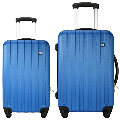 Nasher Miles Zurich Blue ABS Hard Luggage Set of 2 Luggage Set Trolley/Travel/Tourist Bags (65 & 75 cm)