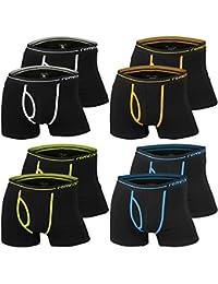 4er   8er   12er Pack Herren Retro Boxershorts REMIXX schwarz - exclusive von Lavazio®