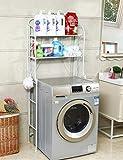 DNKNS DNKNS Waschmaschine Regale Badezimmer Einfache Lagerregal wasserdichte Lagerregal (Color : White)