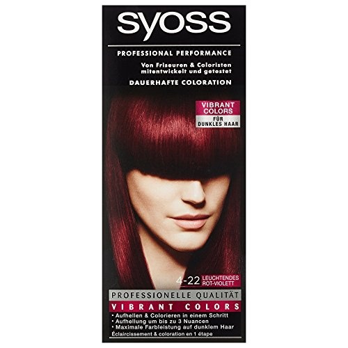 Syoss Professional Performance Coloration Stufe 3, 4-22 Leuchtendes Rot-Violett, 115 ml