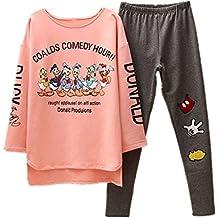 BOMOVO Conjunto de pijama Dibujos animados de dibujos animados Donald Duck de manga larga trajes de servicio a domicilio
