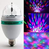 #9: Ivaan™ 360 Degree LED Crystal Rotating Bulb Magic Disco LED Light,LED Rotating Bulb Light Lamp for Party/Home/Diwali Decoration