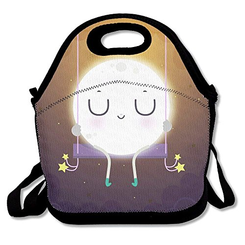 fengxutongxue Lunch Tote Good Night Moon Lunch Boxes Lunch Bags Handbag Food Storage Fits for School Travel Work Outdoor