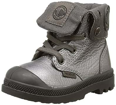 Palladium Bgy Ml Zip Bb, Chaussures Bébé marche mixte bébé, Argent (841/Pewter/Metal), 24 EU