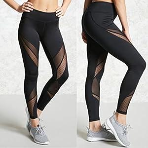 Yinew Damen Yoga Hose Sexy Mode Nähgarn Yoga Hosen Damen Sport Hose für Damen Mädchen Frauen