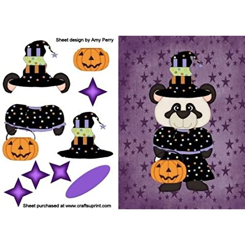 Orso strega di Halloween by Amy Perry