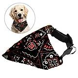 ASAB Hundehalsband für Haustiere, Blau/Schwarz / Rot, Stoff, Verstellbare Schnalle, Halstuch, Robuster Stoff, strapazierfähig, abnehmbar, waschbar, Schals
