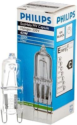 Philips 86401400 ECO HALO CLICKLINE 42W G9 K Hochvolt-Halogen-Stiftsockellampe in klar von Philips - Lampenhans.de