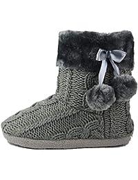 Pompones gris zapatos y complementos - Pompones para zapatillas ...