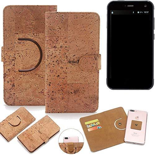 K-S-Trade Schutz Hülle für Cyrus CS 28 Handyhülle Kork Handy Tasche Korkhülle Schutzhülle Handytasche Wallet Case Walletcase Flip Cover Smartphone Handyhülle