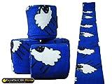 Fleece Bandagen 4-er Set Blau Sheep