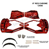 8' Hoverboard CHROME Plastic Shell - Housse Swegway 8 pouces Frame 2 Wheel Smart Balance Scooter Plastics (ROUGE)