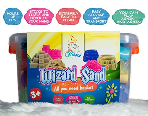 Huge Pack of Kinetic Sand - 4 Colours 4.4lbs, 18 pcs Tool