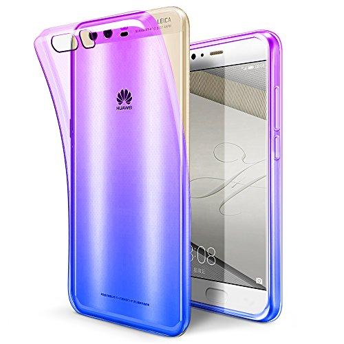 Custodia Huawei P10 Plus, SLEO [Multicolore] Cover Huawei P10 Plus, [Cover Silicone Gel] Morbido TPU Ultra Sottile [Traslucido] Liquid Crystal Leggero Protezione, Prottetiva Case Huawei P10 Plus, Cover per Huawei P10 Plus - Viola Blu