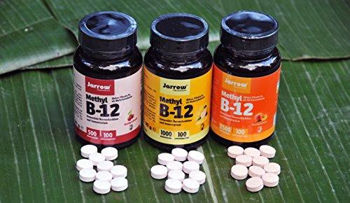 Methyl B12 Lutschtabletten – 1000 µg – aktives Vitamin B12 als Methylcobalamin – 100 Stück von Jarrow - 5