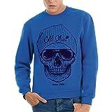 Sweatshirt Schädel - Sonnenbrille - Berühmt by Mush Dress Your Style - Herren-S-Blau