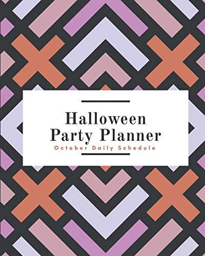 Halloween Party Planner: October Daily Schedule Retro Purple